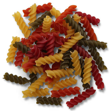 pile of pasta fusilli, Beautiful Food , High Quality