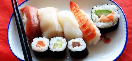 Assortment of Japanese Sushi photo