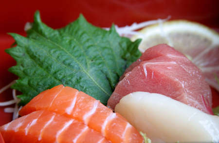 Japanese traditional food and culinary accessories photo