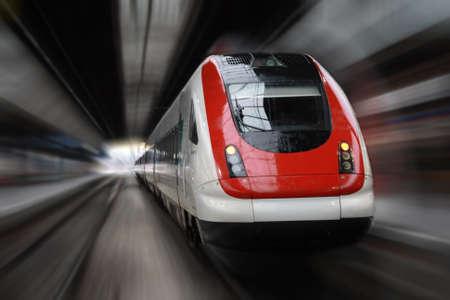 petit train: Front Side train avec effet de flou