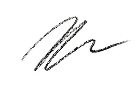 Eye liner pencil stroke on white background
