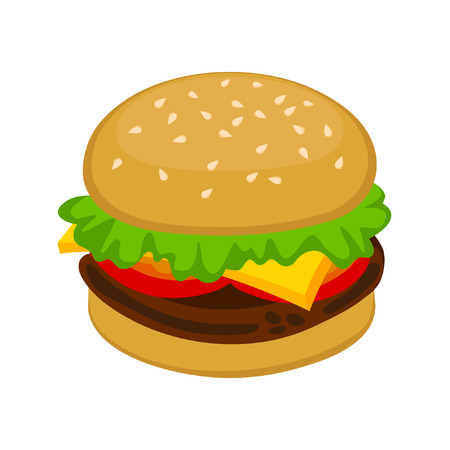 Ham Burger Stock Vector - 8977957