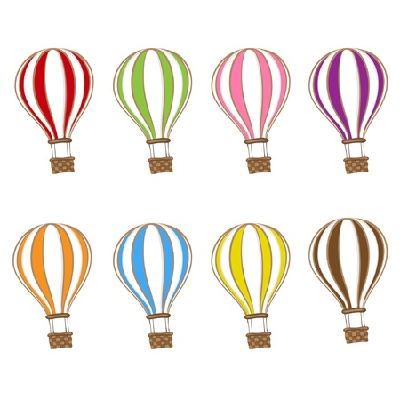 ballon rouge: Hot Air Balloon Illustration