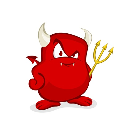 Schattig Devil Stock Illustratie