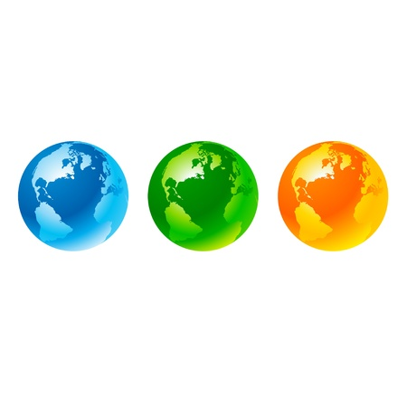 Globes Stock Vector - 11020025