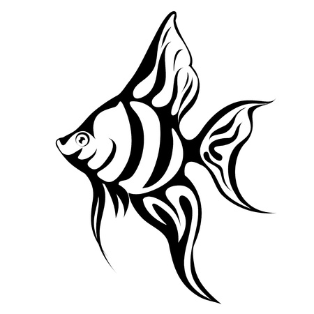 Angel Fish Tattoo Vector