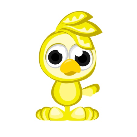 Little Yellow Bird Vector