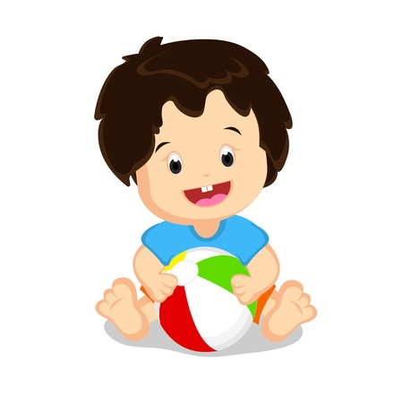 Baby with a Ball Stock Vector - 11491140