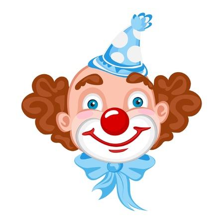 clown cirque: Visage de clown Illustration