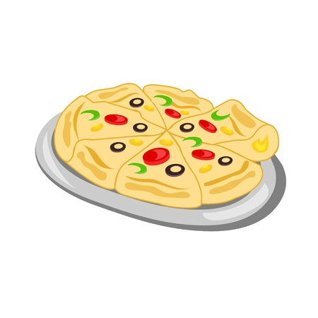 Delicious Pizza Illustration