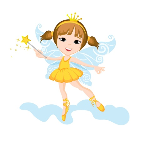 fairy princess: Cute Little Fairy Illustration