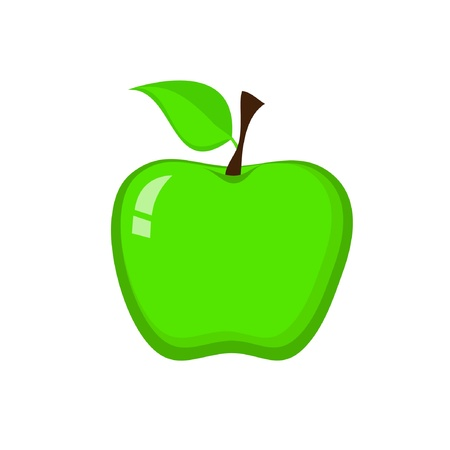 Green Apple Stock Vector - 13888723