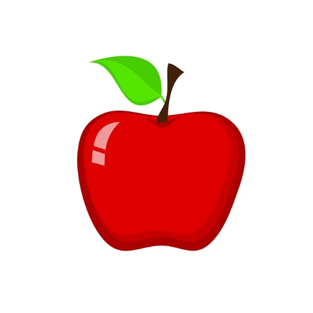 Red Apple Stock Vector - 13888722