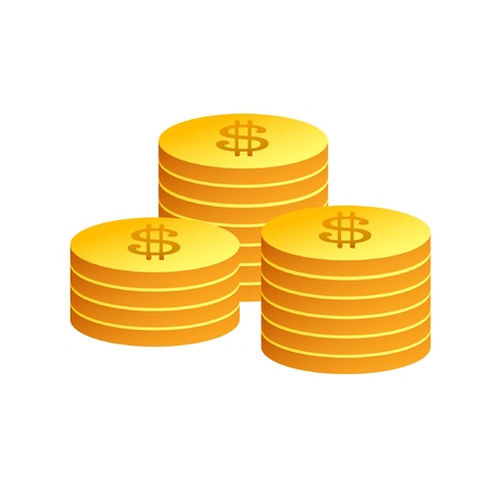Gold Coins Stock Vector - 13888729