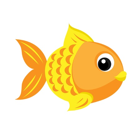Gold Fish Stock Vector - 13888731