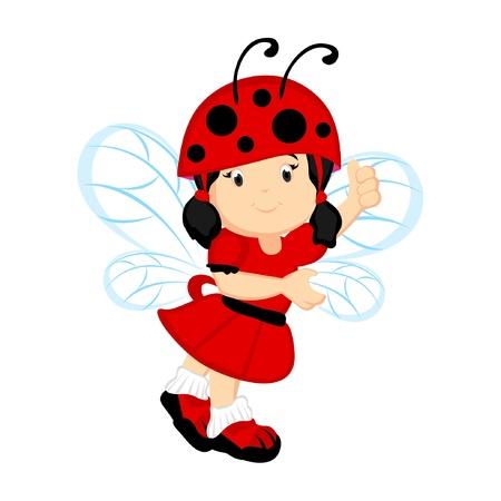 Ladybug Fairy Illustration