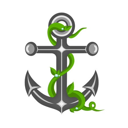 sea weeds: Anchor Illustration
