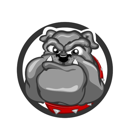 angry dog: Angry Bull Dog Illustration