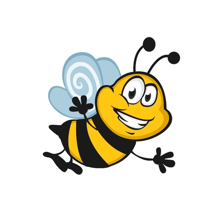 Happy Bee Stock Vector - 17964368