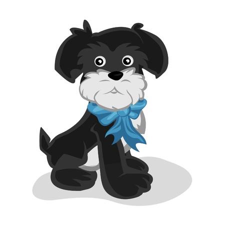 lap dog: Puppy Fury Vettoriali
