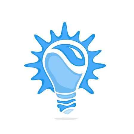 metal light bulb icon: Blue Buld Icon Illustration