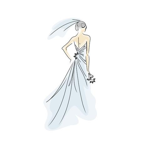 bride silhouette: Bride