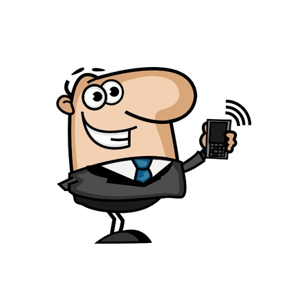 Business Man with a Phone