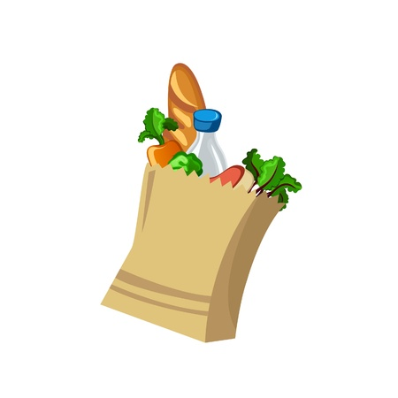 Grocery Bag Illustration