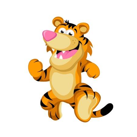 caricature cat: Happy Tiger