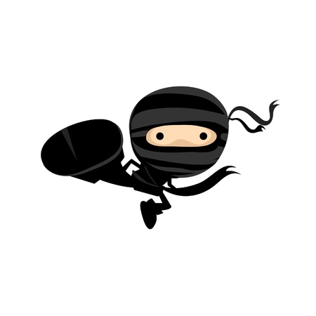 Ninja Kick Stock Vector - 17964473