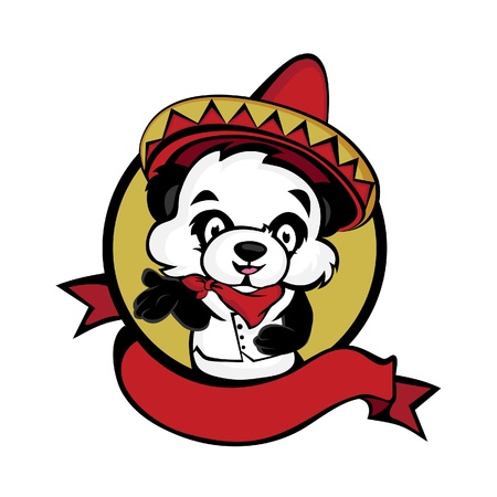 Mexicaanse Panda Stock Illustratie