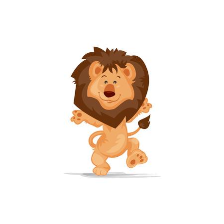 Cute Lion Dancing 矢量图像