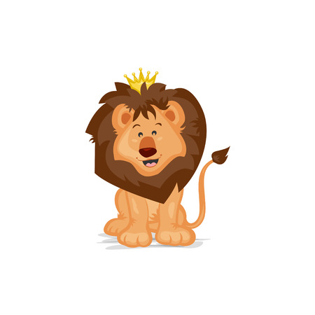 lion cartoon: Cute Lion King