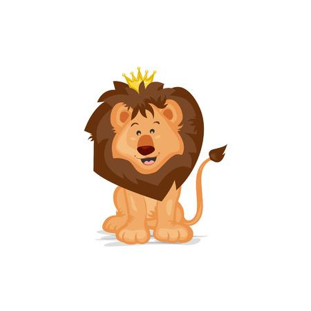 rey: Lindo Rey León Vectores