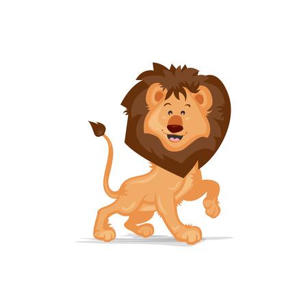 posing: Cute Lion Posing Illustration
