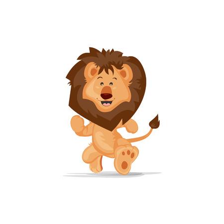 Cute Lion Running 矢量图像