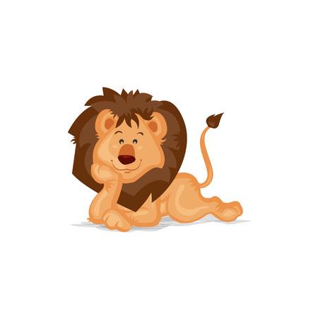 lion dessin: Mignon Lion Pensée Illustration