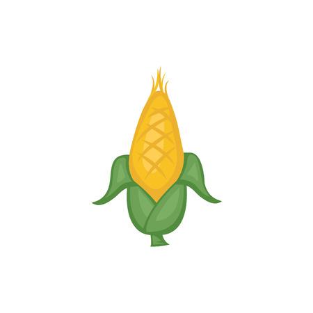 elote caricatura: Verduras Vector - Maíz