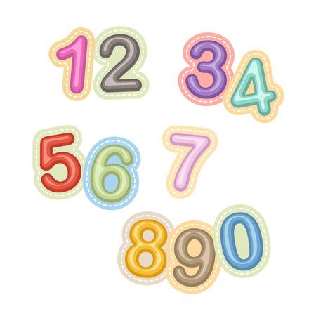 numero diez: Números del vector