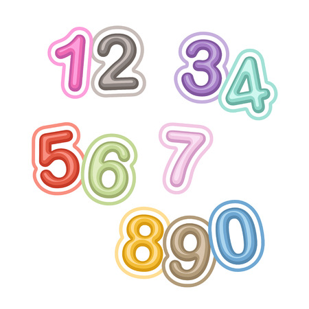 Vector Numbers Illustration