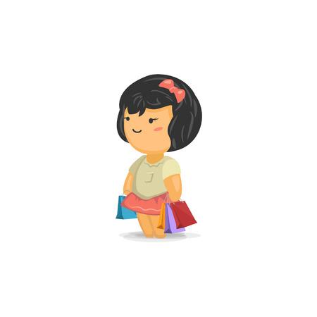 chibi: Cute Chibi Girl Shopping