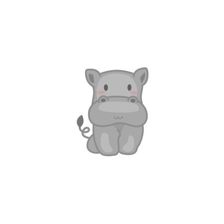 Baby Hippo Illustration
