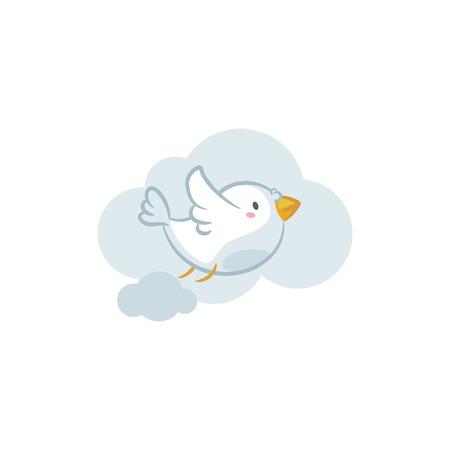 Pigeon icon on white backround