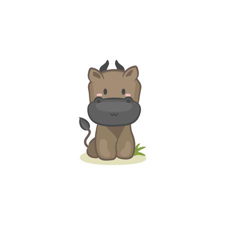 Bull illustration icon. Illustration