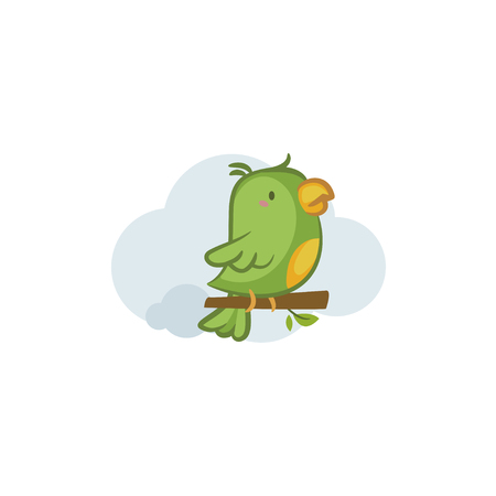 Green Parrot Illustration