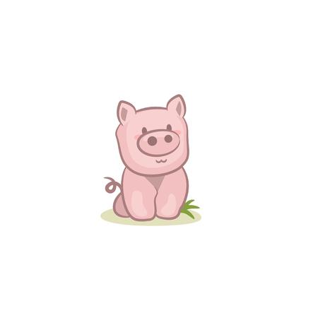 Pig icon isolated 矢量图像