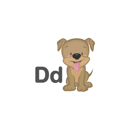 D is for Dog 矢量图像
