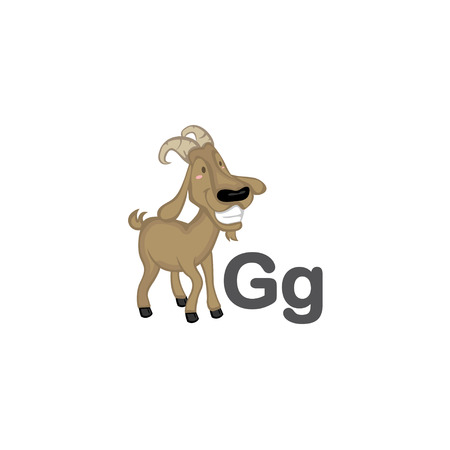G is for Goat 矢量图像