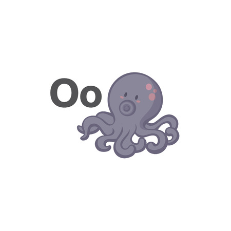 O is for Octopus 矢量图像