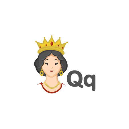 Q is for Queen Illustration